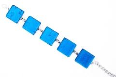 Арт.02 бирюзовый - браслет с 5 элементами 2х2