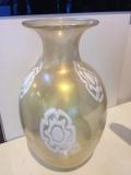 Ваза классическая в золоте h 33 см. Фабрика Gambaro & Poggi муранское стекло