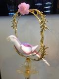 Напольная композиция с попугаем. h-80 см. Фабрика Gambaro & Poggi
