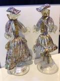 Фигурка Пара Венецианская Multicolor h 30 см Фабрика Murano Design муранское стекло