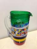 Кувшин Multicolor, h - 24 см, фабрика Murano Design, муранское стекло