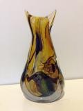 Ваза интерьерная Multicolor в серебре h - 22 см, Фабрика Obal, муранское стекло