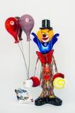 Клоун с шарами h 35 см, фабрика Murano Design муранское стекло