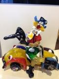 Клоун на автомобиле h 28, L 32 фабрика Murano Design муранское стекло