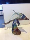 Дельфин на волне h 25 см,  мастер Andrea Tagliapietra, техника
