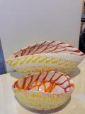 Yalos  набор из 2-х предметов. Конфетница 17,5/11 см и фруктовница 30/15 см. Муранское стекло
