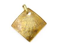 Арт.01 золотой - подвеска 4x4 см муранское стекло
