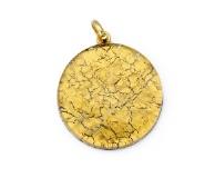Арт.01 золотой - подвеска диам.3,2 см муранское стекло
