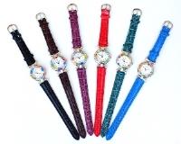 Часы с мурринами кварцевые кожаный ремешок НОВЫЕ ЦВЕТА (1)