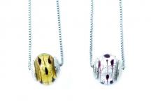 TR16/1** Кулон-бусина Лакрима на цепочке муранское стекло