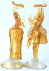 MD21 Венецианская пара 18 века цвет золотой муранское стекло