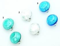 2017-00-20/maz Клипсы с серебром диам. 20 мм 3 цвета муранское стекло