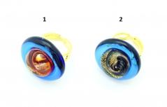 VC22 Кольцо Атолл диам.2,5см, цвет канта синий муранское стекло