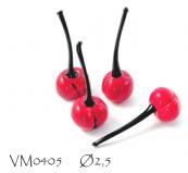 VM0405 Ягодка черешни муранское стекло
