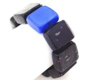2017-75 Браслет Reason цвет черно-синий муранское стекло