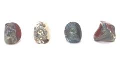 NV21 Кольцо  Пирамида  с кальцедоном 3 цвета муранское стекло