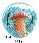 SM5454 Статуэтка Аквариум с медузой диаметр 12 см
