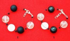 2017-56 Браслет Boule черно-белый 2 варианта муранское стекло
