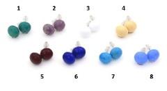 VM0481 Серьги-гвоздики матовые различные цвета муранское стекло
