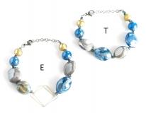 GM0027 Peggy Браслет -E- цвет голубой муранское стекло