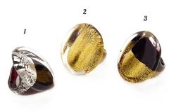 NV41 Кольцо Венеция 3 цвета муранское стекло