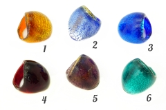 NV52 Кольцо Bright шамаре' 7 цветов муранское стекло