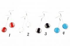 Vac/O9799 Серьги Candy на тонком бисере 4 цвета муранское стекло