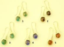 VM0375 Серьги с авентурином 5 цветов муранское стекло