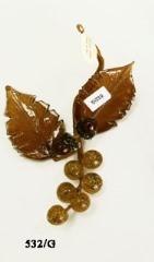 532/G  Веточка с желудем (дл. 15см) муранское стекло
